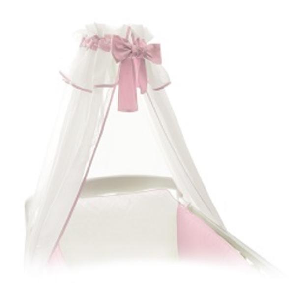 Baldachýn bielo - ružový.