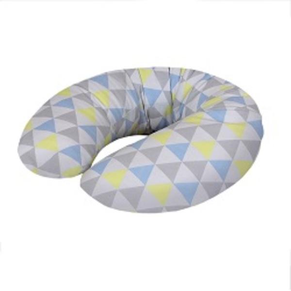 Cebuška Mini žerzej trojuholniky modro-žltá.