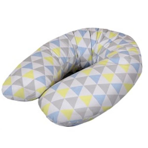 Cebuška Multi žerzej trojuholniky modro-žltá.