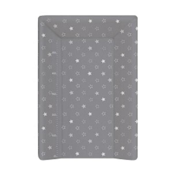 Prebaľovacia podložka Ceba 3 hran 70 cm, hviezdičky tmavo - šedé.