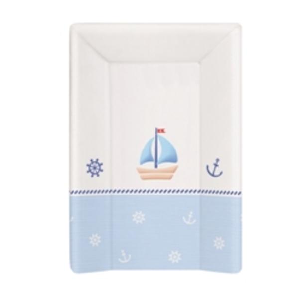 Prebaľovacia podložka Ceba mäkká 3 hran 70 cm, Námorník bielo - modrá.