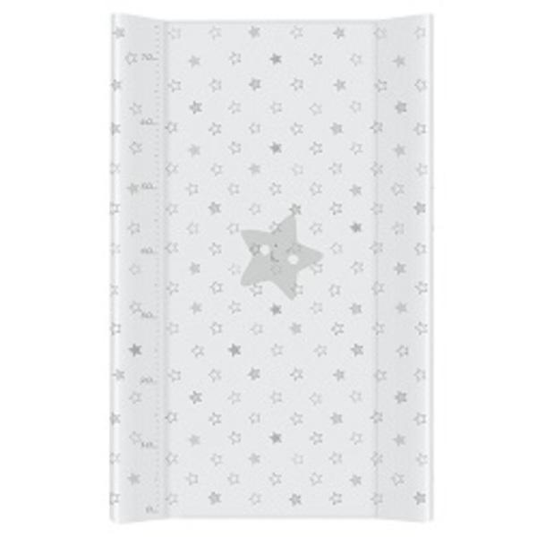 Prebaľovacia podložka Ceba mäkká 80 cm, hviezdičky šedé.