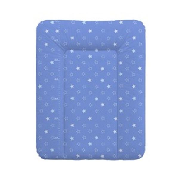 Prebaľovacia podložka Ceba na komodu 50x70 hviezdičky tmavo - modré.