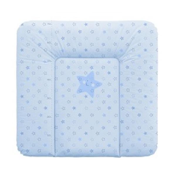 Prebaľovacia podložka Ceba na komodu 75x72 hviezdičky modré.