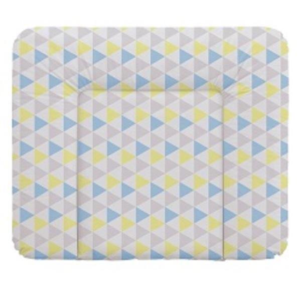 Prebaľovacia podložka Ceba na komodu 85x72, trojuholníky modro - žlté.