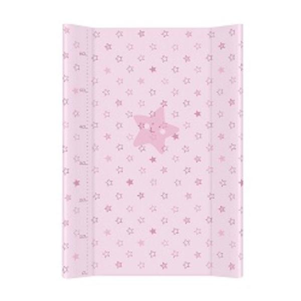Prebaľovacia podložka Ceba pevná 70 cm, hviezdičky ružové