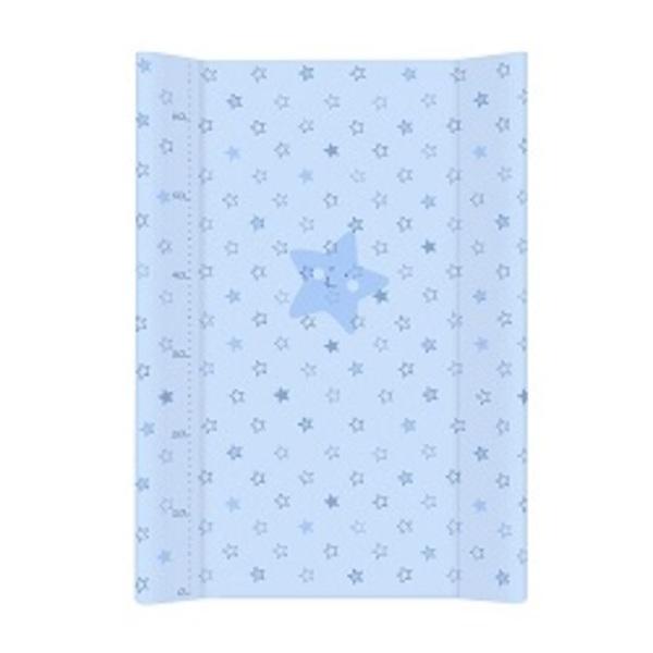 Prebaľovacia podložka Ceba pevná 80 cm, hviezdičky modré