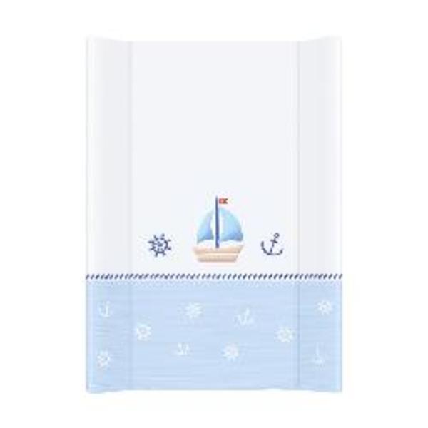 Prebaľovacia podložka Ceba pevná 80 cm, Námorník bielo – modrá