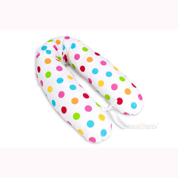 Vankúš na kojenie Mamo-Tato - farebné guličky