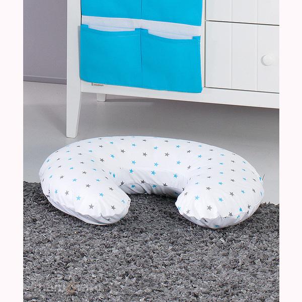 Vankúš na kojenie Mamo-Tato MINI - bledomodré hviezdičky