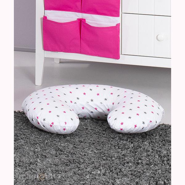 Vankúš na kojenie Mamo-Tato MINI – ružove hviezdičky 1