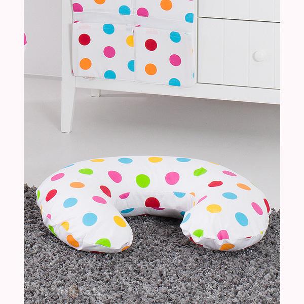 Vankúš na kojenie Mamo-Tato MINI - farebné guličky