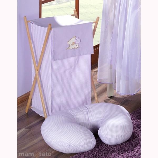 Vankúš na kojenie Mamo-Tato MINI – káro fialová 1