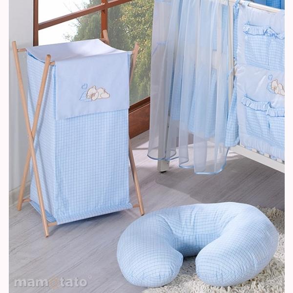 Vankúš na kojenie Mamo-Tato MINI – káro modrá 1