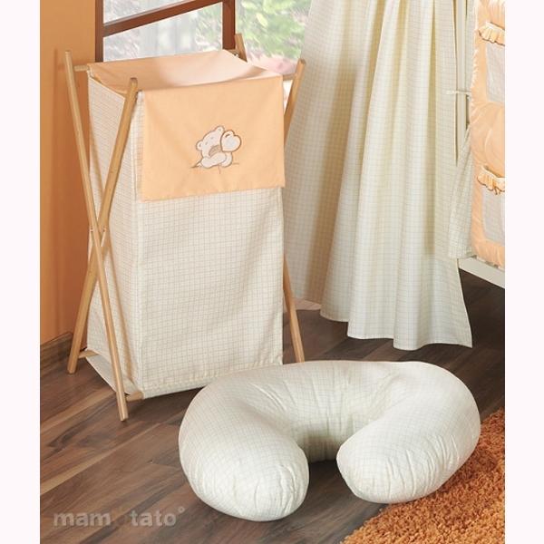 Vankúš na kojenie Mamo-Tato MINI – káro oranžová 1