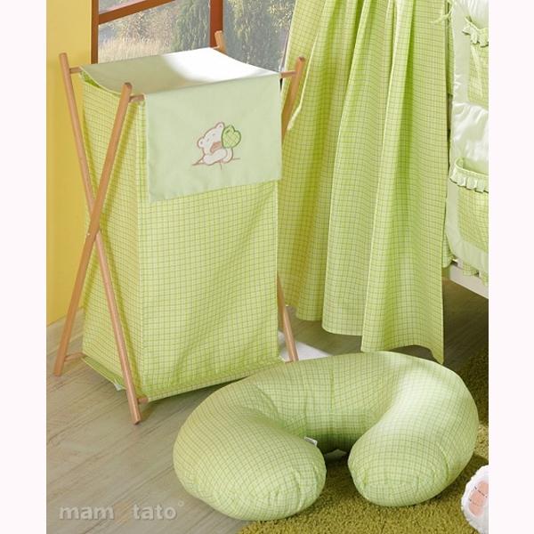 Vankúš na kojenie Mamo-Tato MINI – káro zelená 1
