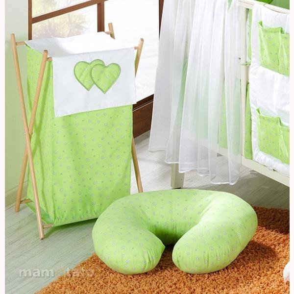 Vankúš na kojenie Mamo-Tato MINI – kvietky zelená 1