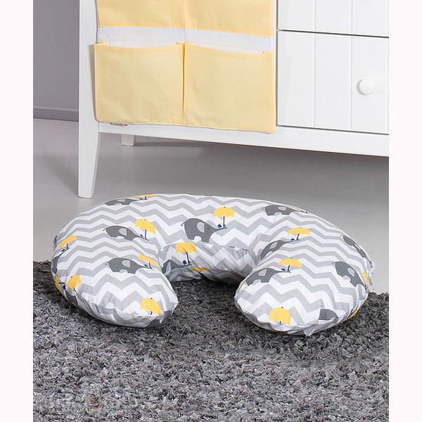 Vankúš na kojenie Mamo-Tato MINI – slony dáždnik žltá 1