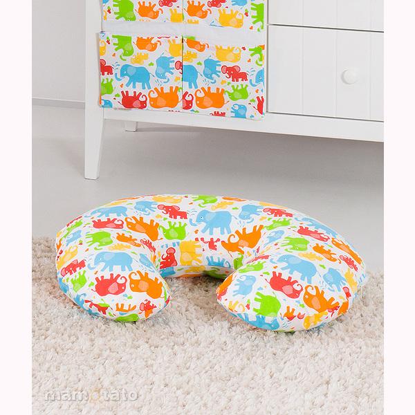 Vankúš na kojenie Mamo-Tato MINI – slony farebné 1