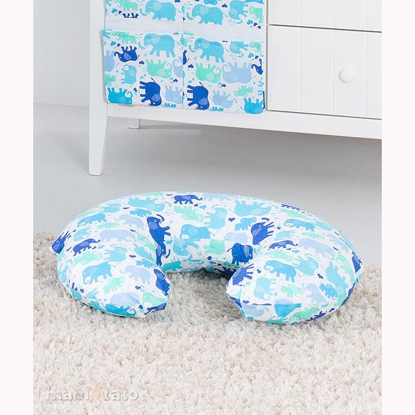 Vankúš na kojenie Mamo-Tato MINI – slony modré 1