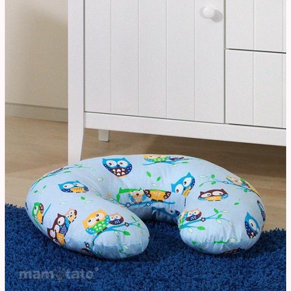 Vankúš na kojenie Mamo-Tato MINI - sovičky modrá