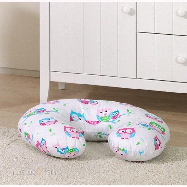 Vankúš na kojenie Mamo-Tato MINI - sovičky ružová
