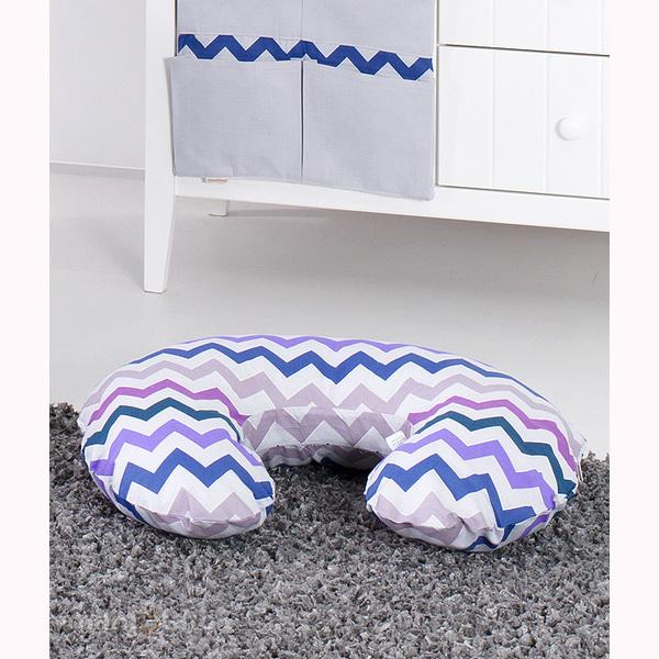 Vankúš na kojenie Mamo-Tato MINI - ZigZak fialová