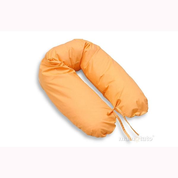 Vankúš na kojenie Mamo-Tato – oranžová 1
