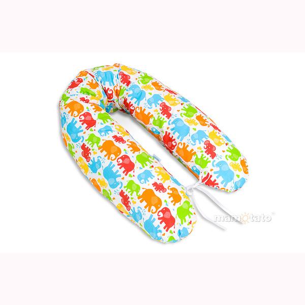 Vankúš na kojenie Mamo-Tato – SLONY farebné 1
