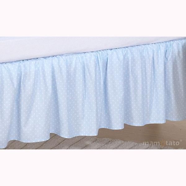 Volán pod matrac MT - guličky modrá