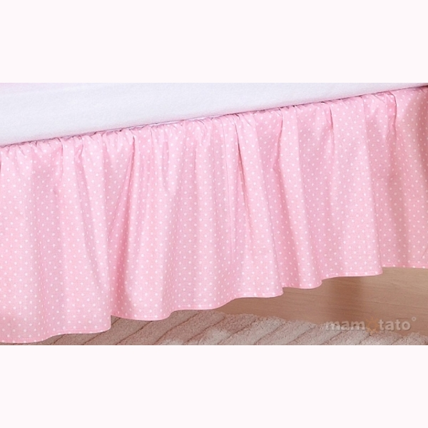 Volán pod matrac MT - guličky ružová