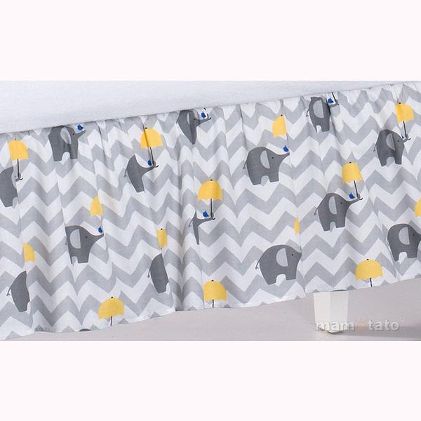 Volán pod matrac MT - slony dáždnik žltá