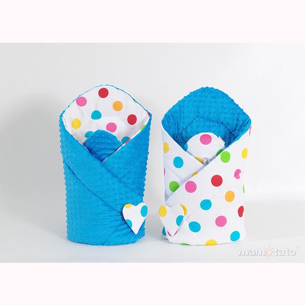 Zavinovačka MINKY - farebné guličky modrá