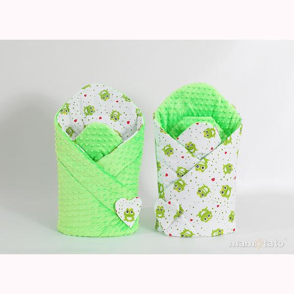 Zavinovačka MINKY – žabky zelená 1