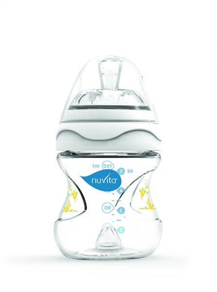 NUVITA Dojčenská fľaša s antikolikovým systémom 150ml biela