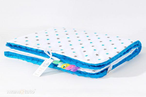 detska-deka-minky-sedomodrehviezdicky-modra