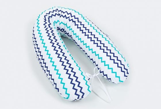 vankúš na kojenie zig zak tyrkysovo modrá