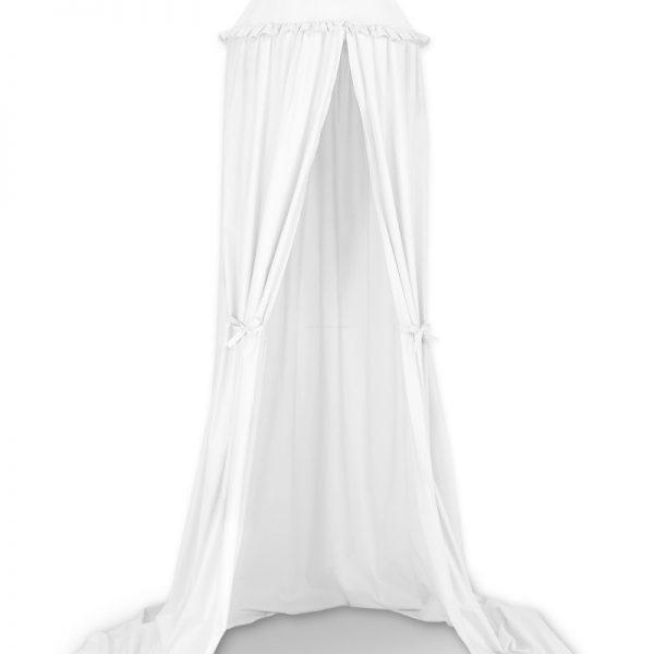 biely-baldachyn-visiaci-s ozdobou