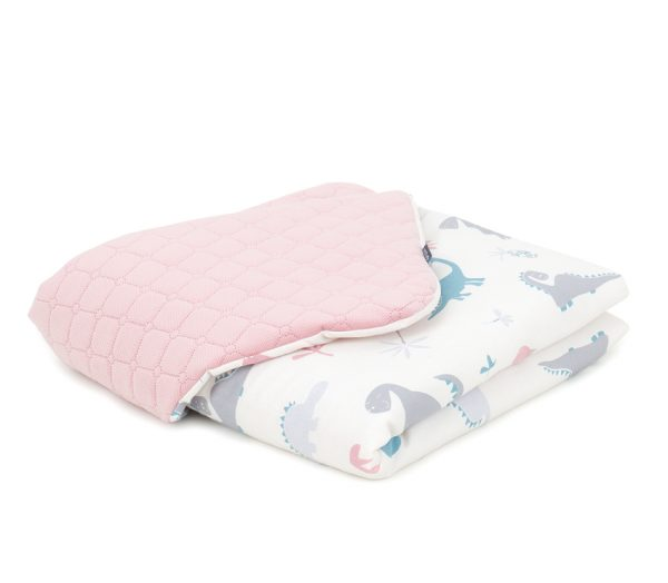 dinosaurus-ružová-detská-deka