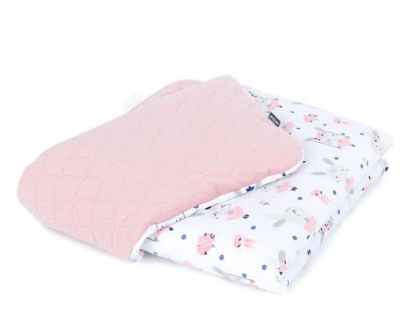 zajačíky-detská-deka-ružová