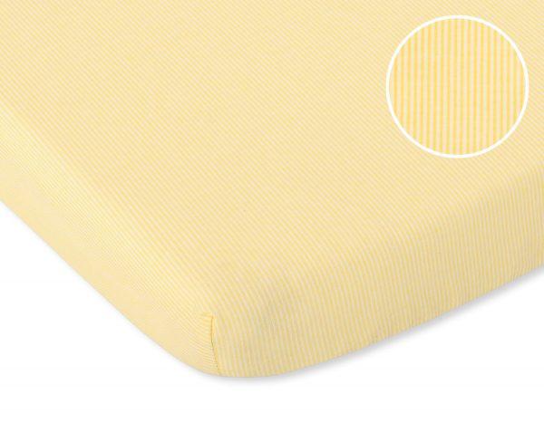 bavlnená plachta žlté pásiky