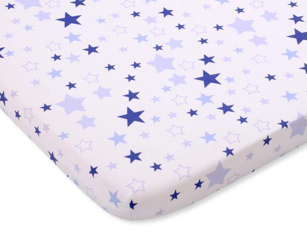 bavlnená plachta biela modré hviezdy