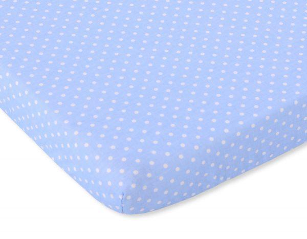 bavlnená plachta modrá biele bodky