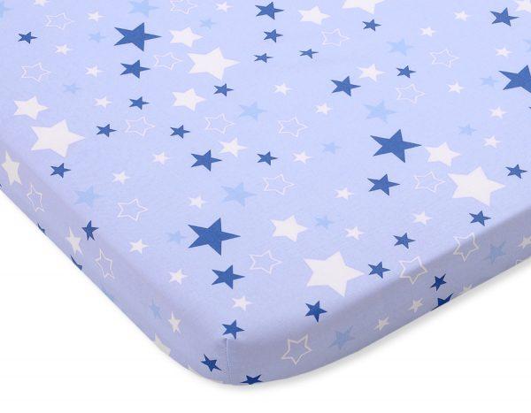 bavlnená plachta modrá modré hviezdy