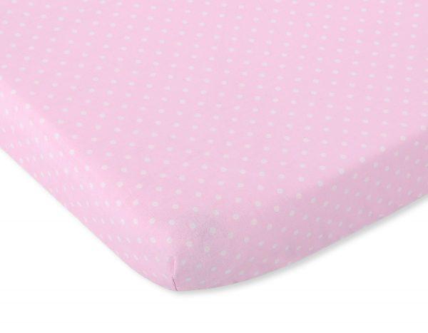bavlnená plachta ružová biele bodky