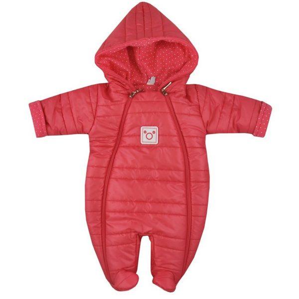 Zimná dojčenská kombinéza Koala Pumi červená