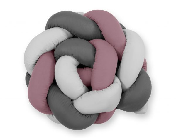 mantinel pleteny do vrkoca 180 cm pastelova fialova siva antracit