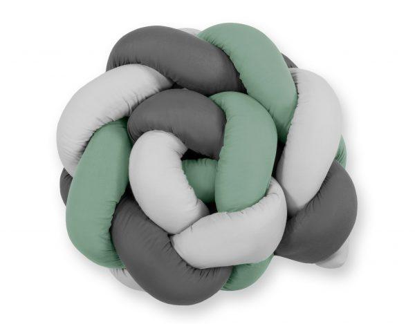 mantinel pleteny do vrkoca 180cm pastelova zelena siva antracit