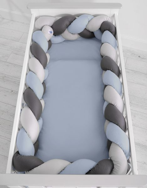mantinel pleteny do vrkoca 360cm pastelova modra siva antracit