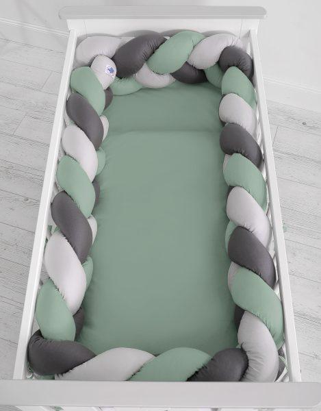 mantinel pleteny do vrkoca 360cm pastelova zelena siva antracit2